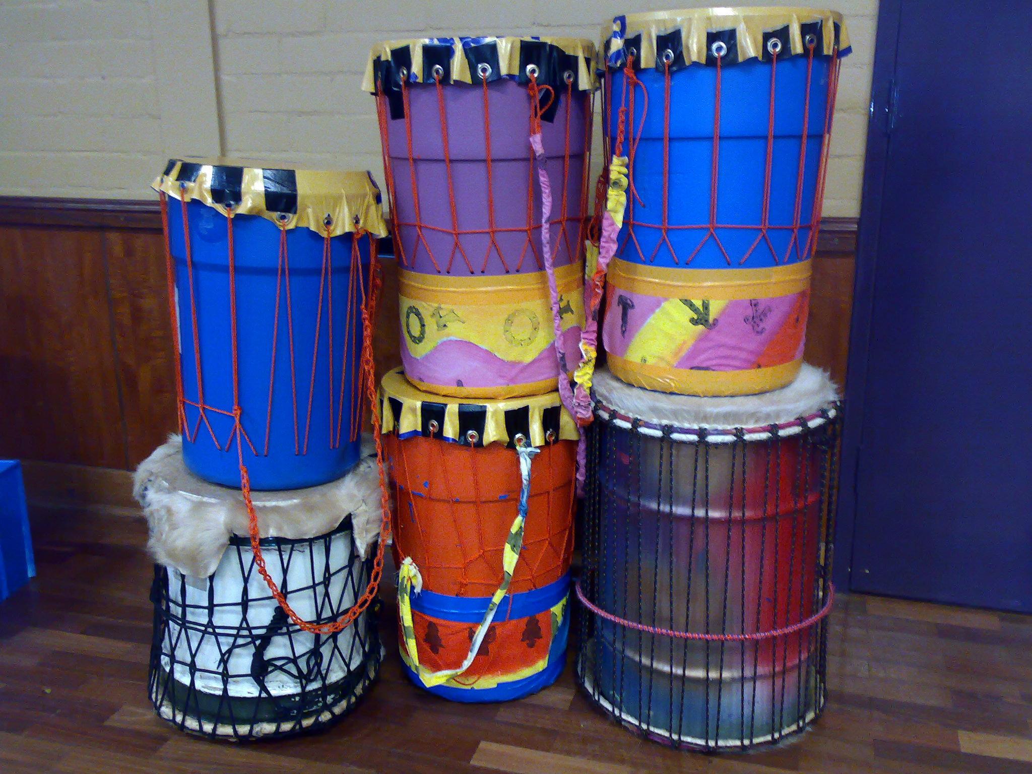 Rhythm, Drumming & Dance » RECYCLED DRUM MAKING